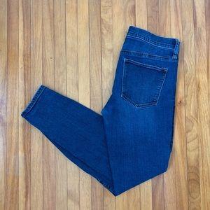 GAP mid rise skinny jeans - medium dark wash